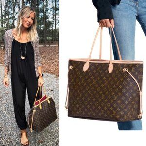Auth Louis Vuitton Neverfull Mm Tote Bag #N9186V98